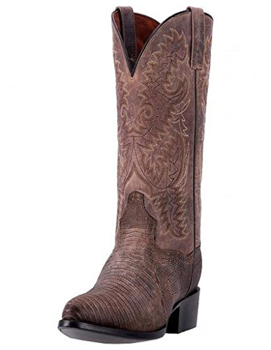 - Dan Post Men's Durham Teju Lizard Cowboy Boot Round Toe Sand 10 D(M) US