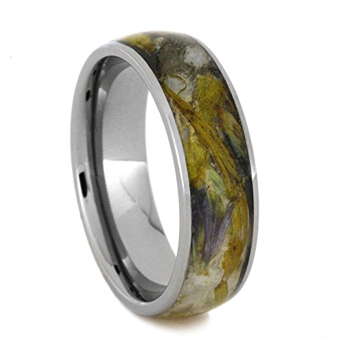 Flower Petal 6mm Comfort-Fit Titanium Band, Size 8.25 by The Men's Jewelry Store (Unisex Jewelry)