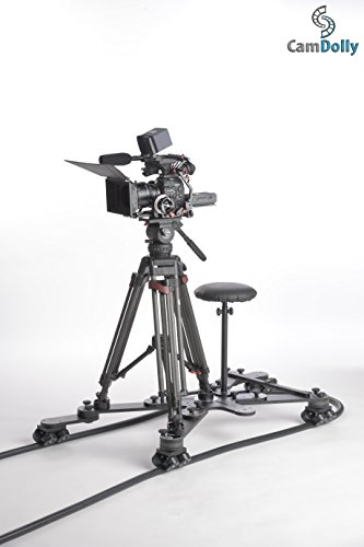 CamDolly Cinema System + 1 Rail - The World's Most Flexible Camera Dolly and Slider System w/ SnakeTrack Flexible CamDolly Rail x1 - 50ft (15m) of Solid Flexible Rubber Track by Fotodiox