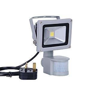 Noza Tec LED Flood Light With PIR Sensor 10W Warm White Waterproof Security L