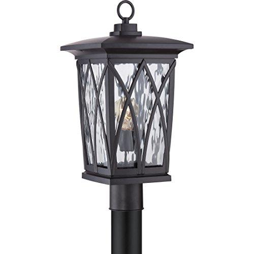 Quoizel GVR9010K 1-Light Grover Outdoor Lantern in Mystic Black Review