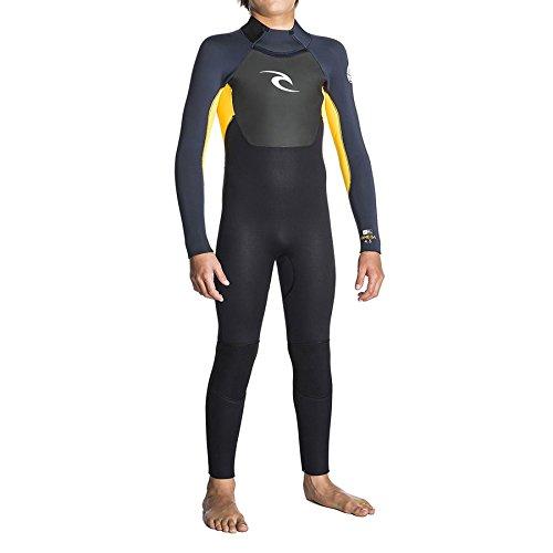 Rip Curl 2018 Junior Omega 3/2mm GBS Back Zip Wetsuit Slate/Orange WSM5EB Age/Size - 12 ()
