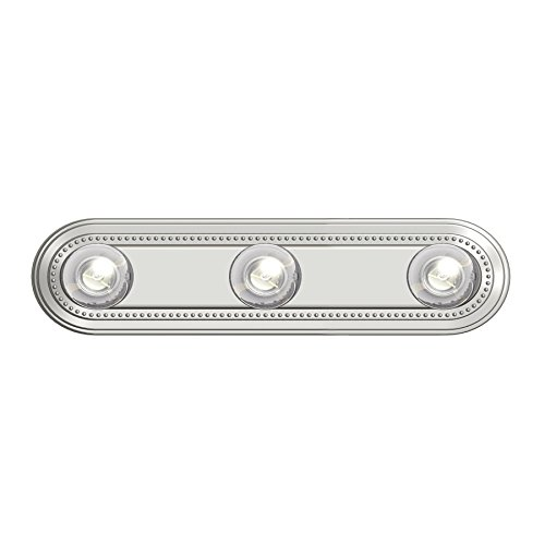 Project Source 3-Light Brushed Nickel Bathroom Vanity Light