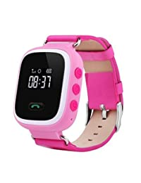 Ohmygod85 Q60 Kid GPS Smart Watch Wristwatch SOS Call Location Anti-lost Alarm Safety Tracker (Pink)