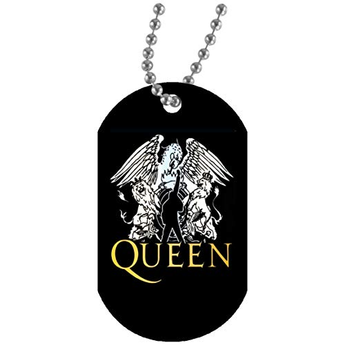 Queen - Band T Shirt, Freddie Mercury T Shirt, Queen -British Rock Band T Shirt, Bohemian Rhapsody Shirt (Dog Tag Military Necklace Army for Mens; Black; One - Gift T-shirt Band Personalized