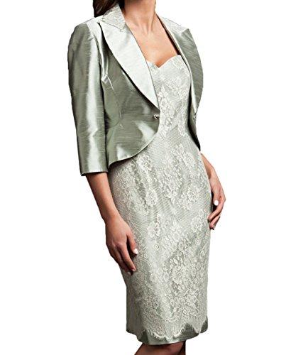 Jaket Spitze Etuikleider Promkleider Langarm Festlichkleider Farbe mit Brautmutterkleider Bild Damen Charmant Abendkleider BFqpzH