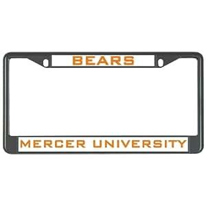Mercer Metal License Plate Frame in Black 'Bears/Mercer University'