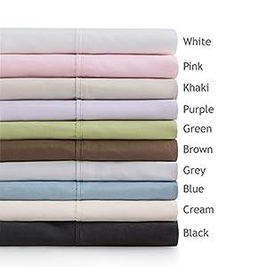 Linenspa Ultra Soft, Wrinkle Resistant Double Brushed Microfiber Sheet Set - Deep Pocket Design - Short Queen, Khaki