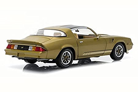 Amazon.com: Greenlight 1981 Chevy Camaro Z28 T-Top, Gold w/ Stripes 12907 - 1/18 Scale Diecast Model Toy Car: Toys & Games