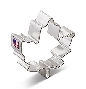 Ann Clark Maple Leaf Cookie Cutter - 3 Inches - Tin Plated Steel