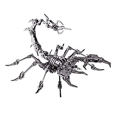 RuiyiF 3D Metal Puzzle Scorpion DIY Model Kit, Detachable 3D Jigsaw Puzzles for Kids Ages 10-12, Ornament for Desk: Toys & Games