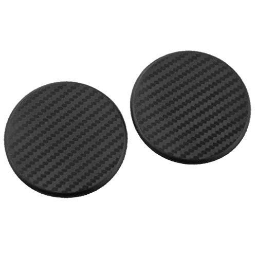 ReFaXi 2Pcs Black Car Auto Water Cup Slot Non-Slip Carbon Fiber Look Mat Accessories