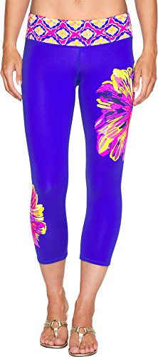 Lilly Pulitzer Women's UPF 50+ Weekender Cropped Multi Summer Sunset Engineered Luxletic Pants by Lilly Pulitzer