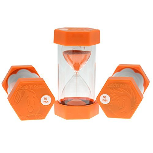 Tink n Stink Large 10 Minute Sand Egg Timer Orange 16cm