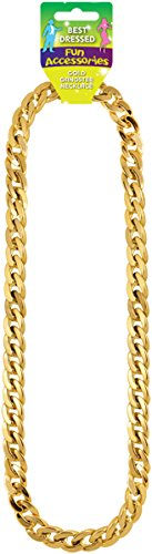 Shop Inc Adult Gold Gangster/Rapper Chain Necklace -