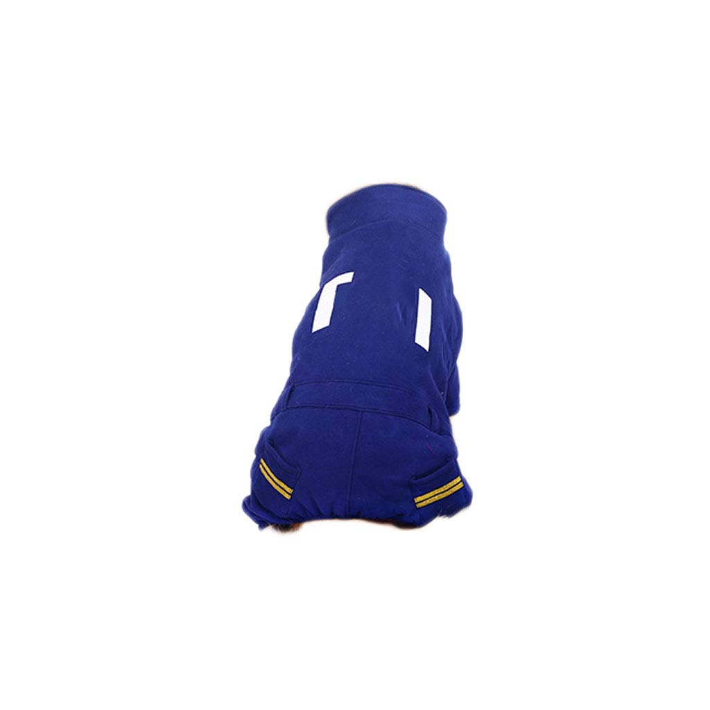 bluee X-Large bluee X-Large Big Dog Clothes golden Hair Sweater Samoyed Labrador Puppies Medium-Sized Large Dogs Autumn and Winter Four-Legged Clothes (color   bluee, Size   XL)