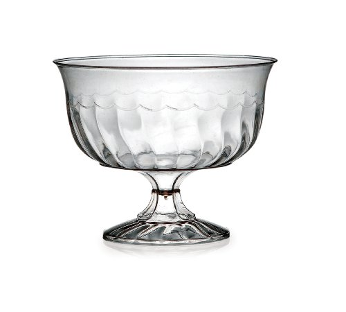 Fineline Settings 10-Piece Flairware Dessert Cups, 8-Ounce, Clear