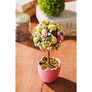Cypress Home Potted Easter Egg Artificial Topiaries, Set of 2 4