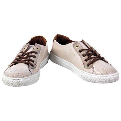 PANTOFOLA D ORO Kinder Jungen Leder Sneaker Vintage Beige 73 Größe 31
