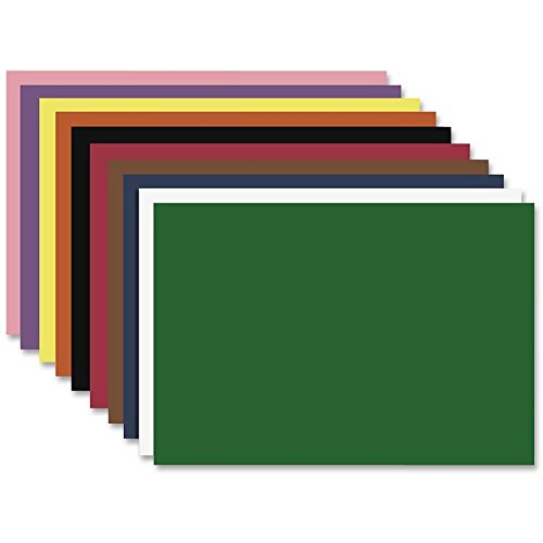 Nature Saver 100% Recycled Smooth Texture Construction Paper, 12in. x 18in., Assorted Colors, Pack Of 50