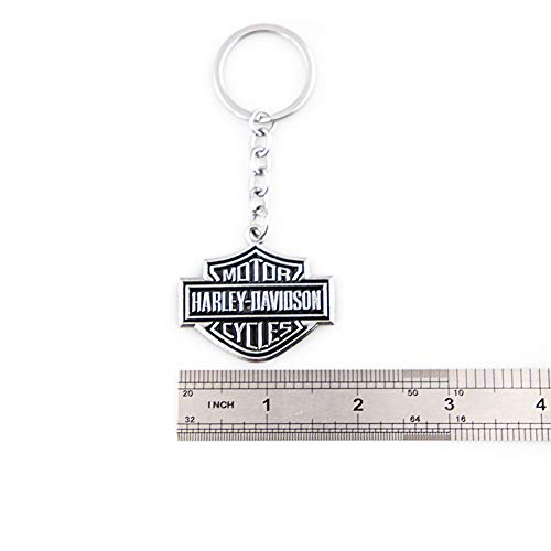 Silver KKY Best 1PC Metal Motorcycle Key Chain Fit for Harley Davidson Emblem Keychain