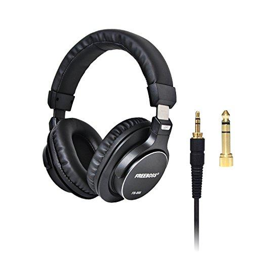 Freeboss FB-888 45mm Drivers Single-side Detachable cable 3.5mm Plug 6.35mm adapter Monitor Headphones