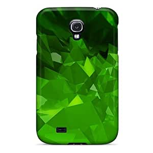 Defender Case With Nice Appearance (green Abstract) For Galaxy S4
