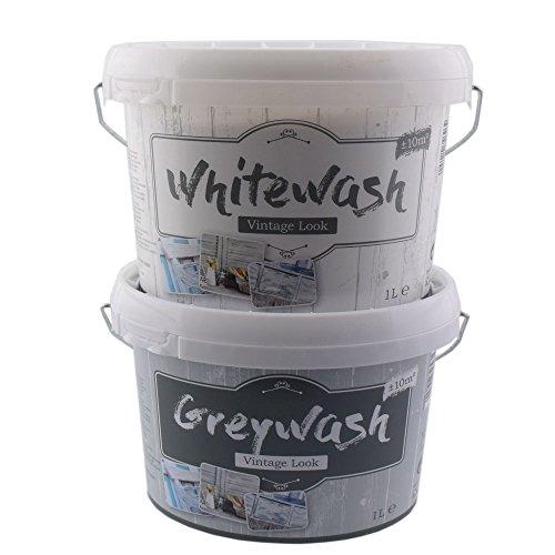 Kreidefarbe Für Holz Vintage Shabby Chic Antiklook Grey Wash Grau