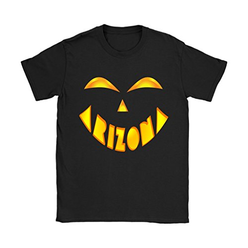 Arizona State Jack O' Lantern Pumpkin Face Halloween Costume Shirt - Women's Sized Tee, XL -