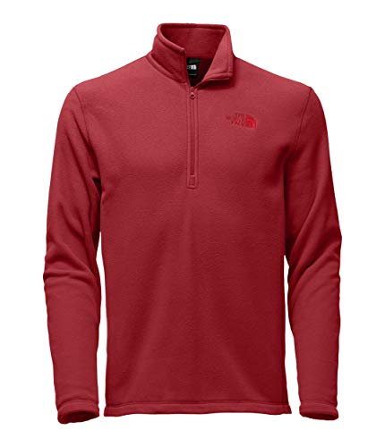 (The North Face Men's TKA 100 Glacier 1/4 Zip Rage Red/Rage Red)