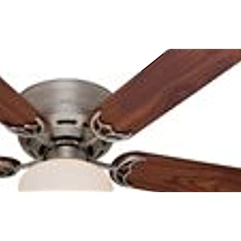 Hunter 53074 low profile iii plus 52 inch ceiling fan with five hunter 53074 low profile iii plus 52 inch ceiling fan with five walnutlight mozeypictures Image collections