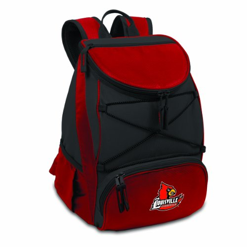 PICNIC TIME NCAA Louisville Cardinals PTX Insulated Backpack Cooler, Red, Regular