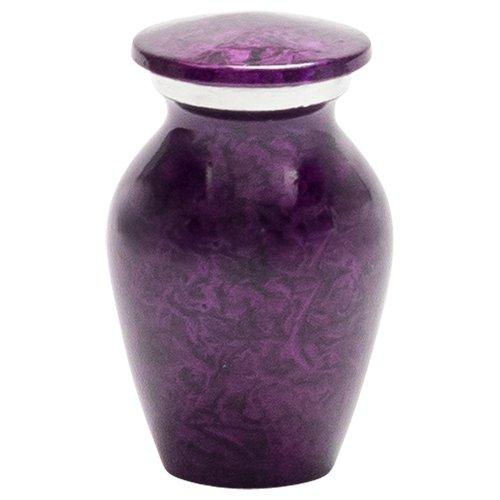 Silverlight Urns Purple Mist Keepsake Urn, Mini Urn for Ashes, Aluminum, 3 inches High