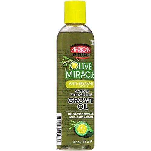 African Pride Hair Oil - African Pride Olive Miracle Growth Oil, 8 oz (Pack of 3)