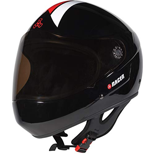 Triple Eight Downhill Racer Full Face Helmet, Black Glossy, X-Small ()