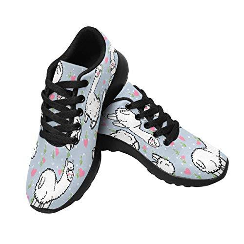 InterestPrint Design 2 Cute Outdoors Shoes Women's Running Alpaca Sneakers F0qUr7F