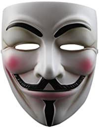 V for Vendetta Anonymous Guy Fawkes Resin Fancy Cool Costume Cosplay Mask for Parties, Carnivals