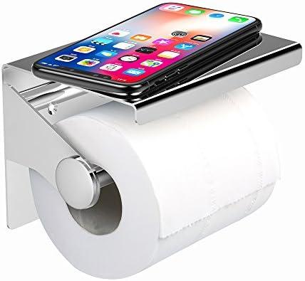 Elegante soporte para rollo de papel higiénico de pared - acero inoxidable  cepillado - con soporte para teléfono Moblie  Amazon.es  Bricolaje y  herramientas c47bee0f607d