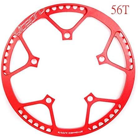 LOLTRA Litepro Chainwheel for Single Speed 130BCD Folding Bike BMX 45T//47T//53T//56T//58T AL7075 Chainring