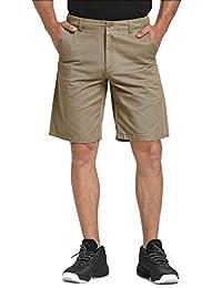 WenVen Men's Classic Fit Flat Front Shorts