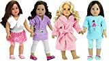 "Best Doll Set With Ballerina Outfits - 18"" Doll Clothing and Sleepwear for 18 Inch Review"