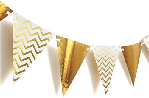 Golden Triangle Flag Black Happy Birthday Banner Beautiful Boy Colors for Little Man First Birthday Decorations Birthday Boy Decorations Kit Gold,Black Latex Balloons Big Must Dot Garland