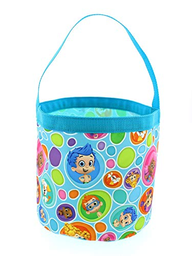 Bubble Guppies Boys Girls Collapsible Nylon Beach Bucket Toy Storage Gift Tote Bag (One Size, Blue)]()