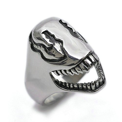 [Stainless Steel Ring for Men, Irregular Ring Gothic Silver Band 22MM Size 11 Epinki] (Princess Zelda Costume Ebay)
