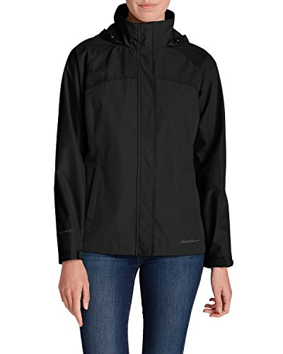 Eddie Bauer Women's Rainfoil Packable Jacket, Black Regular XL