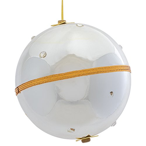 Musical Ornament Stocking - Splendid Music Box Co. Silver Tone Stainless Steel Musical Ball Ornament Plays White Christmas