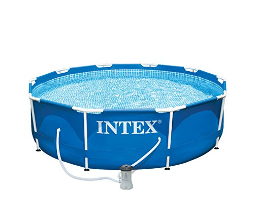 "Intex 10' X 30"" Metal Frame Above Ground Swimming Pool With Filter Pump"