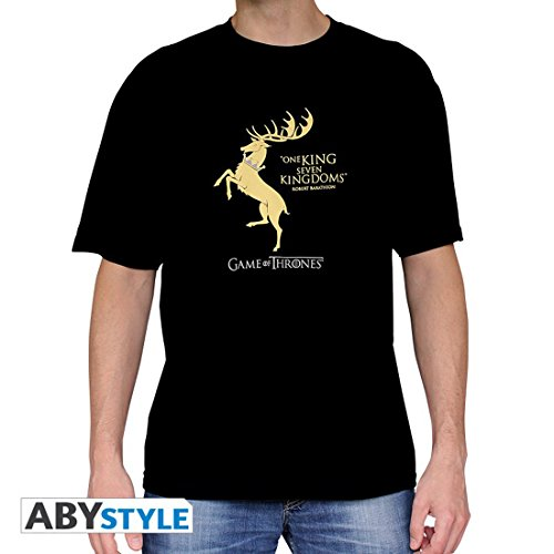 "GAME OF THRONES - Tshirt ""Baratheon"" man SS black - basic"