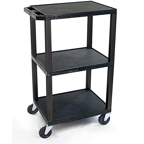 Pine Canopy 42-inch Black Tuffy Utility Cart with Electrical Attachment