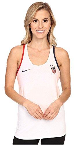 Nike Women's USA Crest Tank Top, White, XL